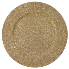 "The Jay Companies 13"" Round Gold Glitter Polypropylene Charger Plate"