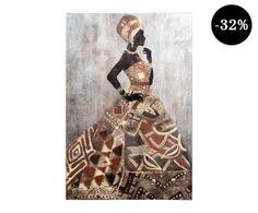 Lienzo Foam - 60x90 cm Africa, Shopping, Afro