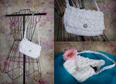 White lace purse White clutch white purse on by RuthiesDaughter