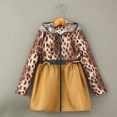 Fashion Leopard Printing Raincoat
