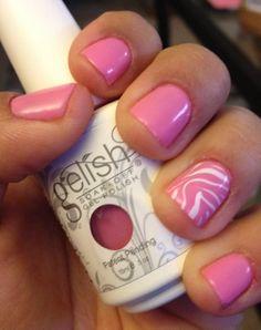 Gelish 'Go Girl' with Zebra Konad Stamp :)