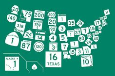 The United States of Highway Signs