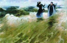 "artist-repin:  "" What a Freedom, 1903, Ilya Repin  Medium: oil, canvas"""