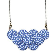 Statement Necklace Blue Blossom, $34, now featured on Fab.