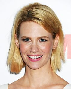 The Best Celebrity Bobs - January Jones from #InStyle