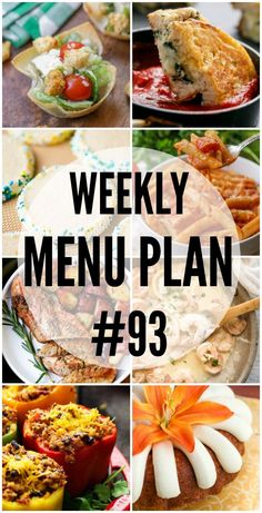 A delicious collection of dinner, side dish and dessert recipes to help you plan your weekly menu plan. Lunch Menu, Dinner Menu, Dinner Recipes, Dinner Ideas, Weekly Menu Planning, Meal Planning, Caesar Salat, Köstliche Desserts, Dessert Recipes