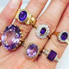 Hello February.... February is here and it's time to showcase one of our most popular gemstones...the Amethyst! All rings are available in our Etsy now! Take a look at our range jewelry here: https://www.etsy.com/uk/shop/TheJewelleryBoxGB