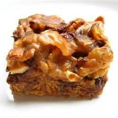 Babe Ruth bar cookies, made with peanuts, corn flakes, and chocolate chips, taste just like a Baby Ruth(R) candy bar.