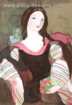 Camille III, Lithographie, du peintre, Marie, LAURENCIN, Signée dans la planche Portrait Art, Portraits, Georges Braque, Art Moderne, Color Print, Detail Art, Art Studies, French Artists, New Art