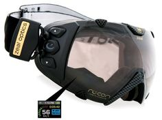 snowboard performance goggles. gps enabled and able to track speed, altitude and temp in real time. also glare adjust