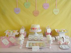 Conversation Hearts theme Valentine's Day Party