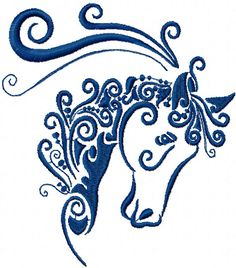 horse free embroidery design