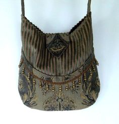 Velvet Gypsy Bag Brass Bead Fringe Messenger Bag by piperscrossing, $65.00