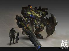 power and armor Robot Concept Art, Robot Art, Surface Art, Advanced Warfare, Sci Fi Armor, Military Units, Super Robot, Suit Of Armor, Science Fiction Art