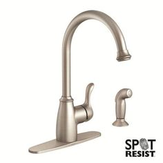 MOEN Finley Single-Handle Side Sprayer Kitchen Faucet in Spot Resist Stainless-87313SRS - The Home Depot