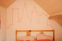 how to washi tape a wall - Google Search