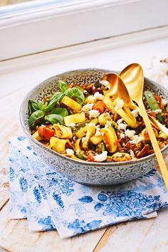 oosterse prei quinoa salade