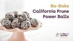 No-Bake California Prune Power Balls - California Prunes Healthy Bars, Healthy Cookies, Healthy Treats, Yummy Cookies, Crazy Cake Recipes, Sweet Recipes, Amish Recipes, Orange Zest Cake, Prune Recipes