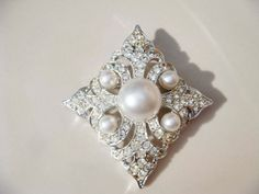 Vintage Silver and Pearl Sarah Coventry by PaganCellarJewelry, $19.99