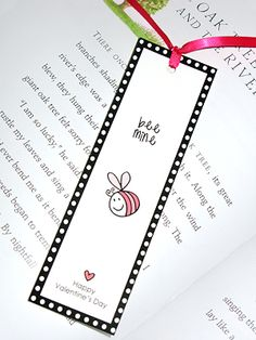 bookmark for Valentine's Day: BEE MINE - printable Valentines Decoration, Valentine Day Love, Valentines Day Party, Valentines For Kids, Valentine Day Crafts, Valentine's Cards For Kids, Valentine's Day Printables, Holiday Crafts For Kids, Valentine's Day Diy