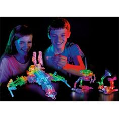 Explore the darkest regions of space with the award winning Laser Peg® Sci-Fi Kit. Laser Pegs® are unique snap together building systems. When you turn them on, your crations become glowing, multi-colored masterpieces! Build a transatmospheric fighter, alien droid, automation, or 16 Light up models.