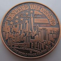 $16.50 Freedom Tower 1 oz .999 Pure Copper Challenge Coin (Black Patina)