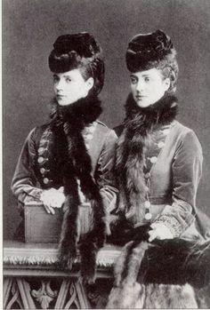 heavyarethecrowns:     Royal Lookalikes.   Queen Alexandra and her sister Dagmar (Maria Feodorovna) who married Tsar Alexander