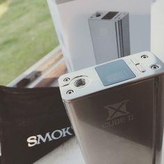 SMOK X CUBE II (v2) Beautiful device but devours batteries alive. #smok #smoktech #xcube #vaping #vape #boxmod #ecig #vapelife #vapelyfe #vapingcommunity