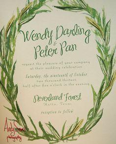 Peter Pan wedding inspiration