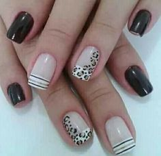 Mani Pedi, Manicure And Pedicure, Love Nails, Pretty Nails, Leopard Nails, Nail Photos, Hair Skin Nails, Cute Nail Designs, French Nails