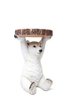 Kare Polar Bear Side Table - Urban Outfitters
