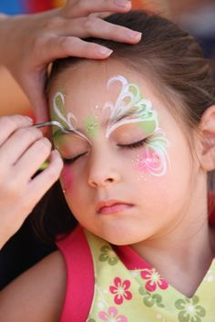 Facepaint on pinterest face paintings fairy face for Fairy painting easy
