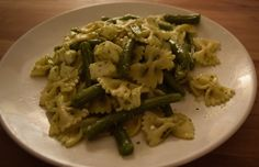Pasta Sperziebonen Pesto Mozzarella Mozzarella, Pesto, Asparagus, Green Beans, Vegetables, Food, Studs, Essen, Vegetable Recipes