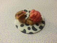 Fondant baby/ Baby Shower/ Baby Girl/ Cowgirl/ Western/Country theme/ Cake topper/Cupcake Topper/ Handmade/ on Etsy, $15.00