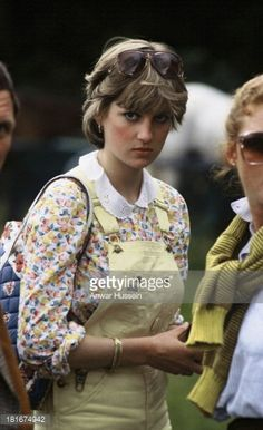 News Photo : Lady Diana Spencer, wearing dungarees, attends a...