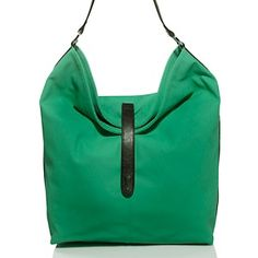 twiggy LONDON Slouchy Bag with Contrasting Black Trim at HSN.com
