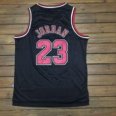 Mitchell Ness Chicago Bulls #23 Michael Jordan Black Swingman Jersey