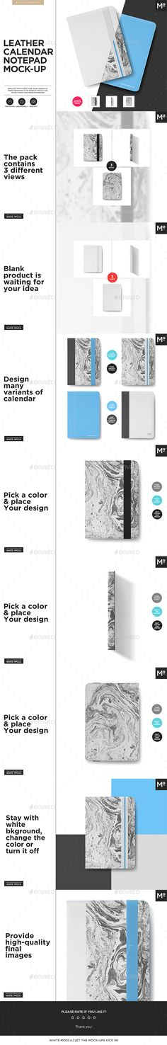 Calendar Notepad Leather Case Cover Mock-up