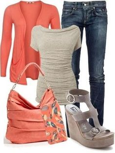 Fall outfit LOLO Moda: Fashionable women's outfits for 2013. Love style but not the color too much.