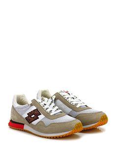 LOTTO LEGGENDA - Sneakers - Uomo - Sneaker in pelle, camoscio e tessuto con suola in gomma. Tacco 25, platform 15 con battuta 10. - BIANCOTORTORA