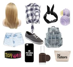 """""""Untitled #92"""" by genrac525 ❤ liked on Polyvore featuring Miss Selfridge, MANGO, Keds, Casetify, Boohoo, Essie and Eos"""