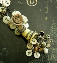 Sew Cute Vintage Souvenir Thimble Assemblage by Vintagearts