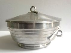 Aluminum Lidded Bowl, Hot or Cold Serving Bowl, Ice Container, Made in Italy by GentlyKept on Etsy