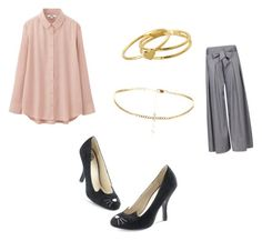 """""""One draft"""" by pinkdisney240 ❤ liked on Polyvore featuring Uniqlo and Gorjana"""