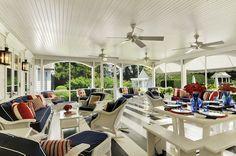 Trisha Troutz: Hamptons Houses  All American porch. I'll take an all Australian verandah :)