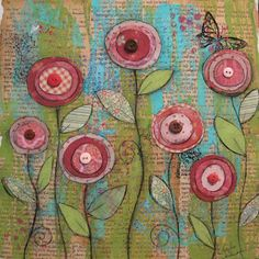 Easy peasy mixed media art craft for work kiddos--Mother's Day craft, perhaps? Easy peasy mixed media art craft for work kiddos--Mother's Day craft, perhaps? Mixed Media Canvas, Mixed Media Collage, Collage Art, Easy Collage, Paper Collages, Kunstjournal Inspiration, Art Journal Inspiration, Art Journal Pages, Art Journals
