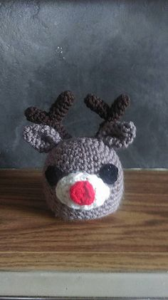 Rudolph Chocolate Orange Cover - free crochet pattern by Miss Jinty.