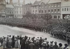 Northumberland Fusiliers on parade in Gateshead, from the book Great War Britain, Tyneside, Remembering by Jo Bath Kingdom Of Northumbria, Blaydon Races, Somewhere In Time, North East England, North Africa, World War I, Historian, Old Photos, Vintage Photos