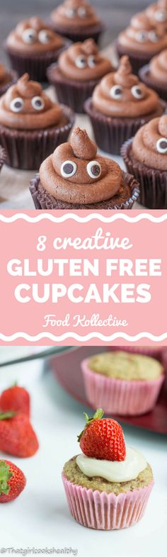 I'm always looking for gluten free cupcake recipes and these look so fun! There are recipes for gluten free vanilla cupcakes, gluten free chocolate cupcakes, gluten free lemon cupcakes, and more. These cupcakes would be perfect for a bridal shower or birthday party. And they are so cute! Collected on FoodKollective.com