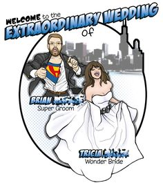 superhero wedding programs